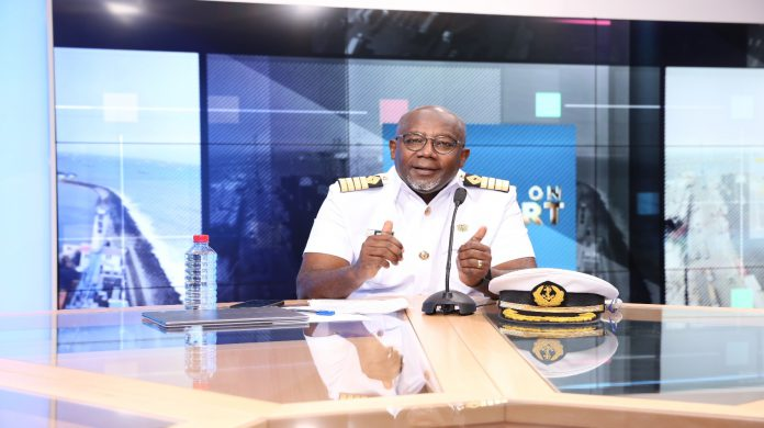 Harbour Master, Capt. Francis Kwesi Micah speaking on Eye on Port