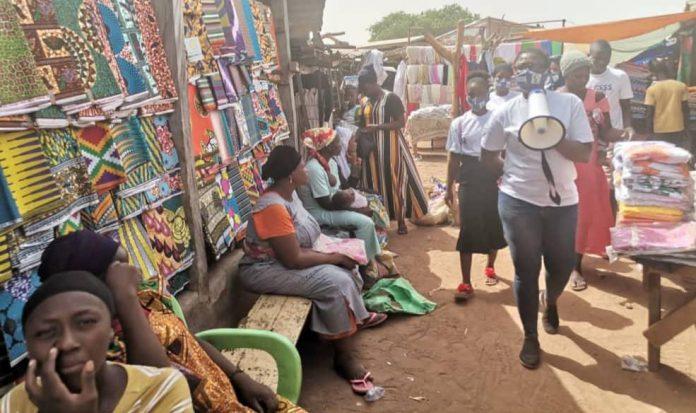 COVID-19 sensitisation at Walewale Market