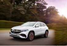 ILLUSTRATION - Converted compact SUV: Mercedes is expanding its electric car fleet with the EQA. The GLA serves as the foundation. Photo: Daimler AG/dpa - ATTENTION: editorial use only in connection with the aforementioned text and only if the credit mentioned above is referenced in full