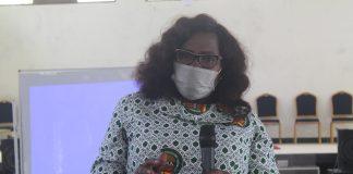 Mrs Rosina Akrofi standing