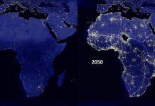 Night time sky 2015-2050