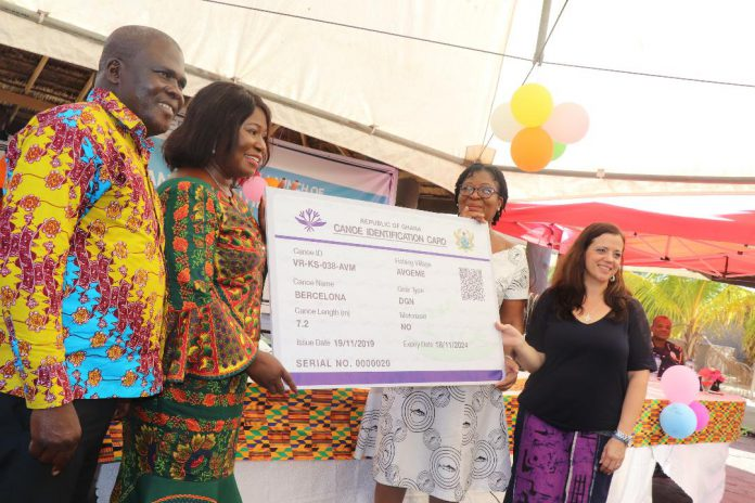 The US Government through the USAID supported the launch of the Canoe Identification Card programme to help align the size artisanal fishing fleet with the health of the fish stocks that support people's livelihoods.