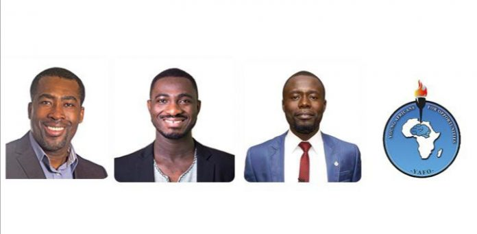 Dr. Mensah, Isaac Sesi and Peter Bismark Kowfie