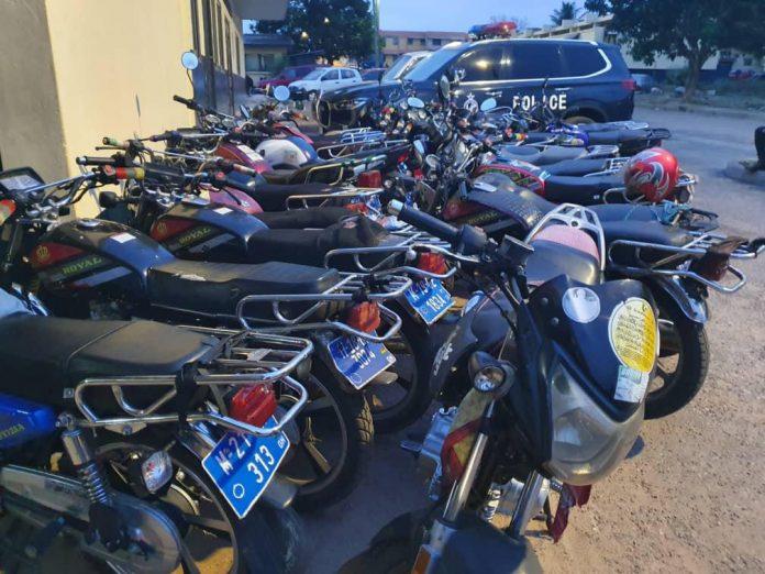 motorbikes arrest