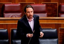 Pablo Iglesias, leader of the Spanish far-left party Unidas Podemos   Andres Ballesteros/AFP via Getty Images