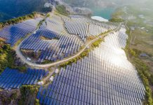 Photo taken on Dec. 27, 2020 shows a photovoltaic power station established on an abandoned mine in Dongshi Township, Meizhou, south China's Guangdong Province. (Photo by Feng Xiquan/People's Daily Online)