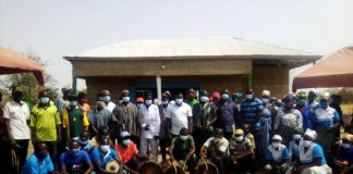 Group photo of the stakeholders at the commissioning of the shea butter processing centre at Nyangua