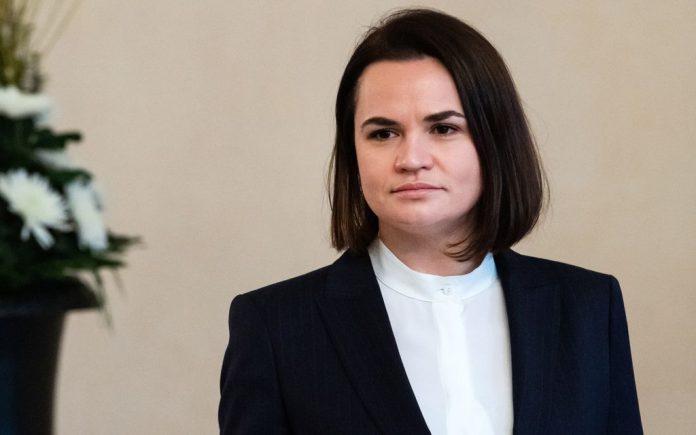 FILED - Belarusian opposition leader Svetlana Tikhanovskaya. Tikhanovskaya has called on the international community to show solidarity with the women in Belarus. Photo: Bernd von Jutrczenka/dpa