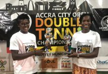 Ismaila Lamptey, Bernard Nii Bortey win Accra City Open Doubles Title