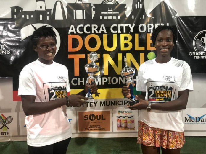 Ismaila Lamptey, Bernard Nii Bortey win Accra City Open Doubles Title