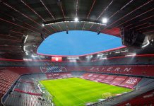 FILED - Bayern Munich's Allianz Arena, a venue for Euro 2020 delayed to this summer due to the coronavirus. Photo: Sven Hoppe/dpa - IMPORTANT NOTICE: DFL and DFB regulations prohibit any use of photographs as image sequences and/or quasi-video.