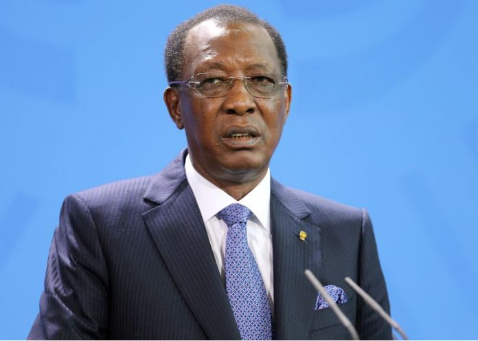 FILED - 12 October 2016, Berlin: President of the Republic of Chad, Idriss Deby, speaks during a press conference with German Chancellor Angela Merkel after their meeting. A Chadian army spokesman said that Deby has died after sustaining injuries while visiting troops on the front lines of a fight against northern rebels. Photo: picture alliance / dpa