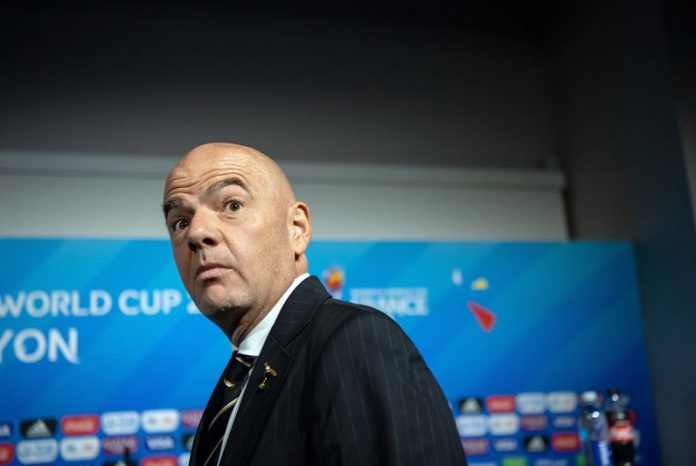FILED - 05 July 2019, France, Decines-Charpieu: FIFA President Gianni Infantino attends press conference. Infantino has rejected proposals for a breakaway European Super League and threatened the clubs involved with unspecified