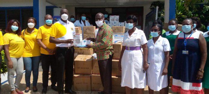 MTN Ghana donates PPE