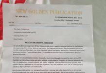 Golden publications apologize