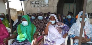 Sabon Zongo Community Members at the UNFPA's sensitization and health screening programme