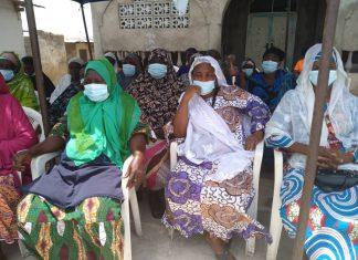Sabon Zongo Community Members at the UNFPA's sensitization and health screening programme