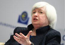 """FILED - ARCHIV - Janet Yellen, Präsidentin des Federal Reserve Board (FED), spricht am 14.11.2017 während der EZB-Konferenz """"Communications Challenges for Policy Effectiveness"""" in der EZB-Zentrale in Frankfurt am Main (Hessen). Der Offenmarktausschuss der US-Notenbank Federal Reserve gibt am 13.12.2017 nach zweitägigen Beratungen die Entscheidung zur künftigen Geldpolitik bekannt. (zu dpa """"US-Notenbank vor neuer Leitzinserhöhung - Was bringt 2018?"""" vom 13.12.2017) Foto\ Arne Dedert/dpa +++(c) dpa - Bildfunk+++ Photo: picture alliance / Arne Dedert/dpa"""