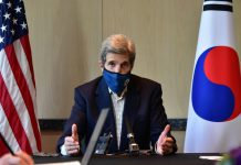 HANDOUT - John Kerry, US special presidential envoy for climate, speaks during a press conference in Seoul on April 18, 2021. Photo: -/US Embassy in South Korea via YNA/dpa