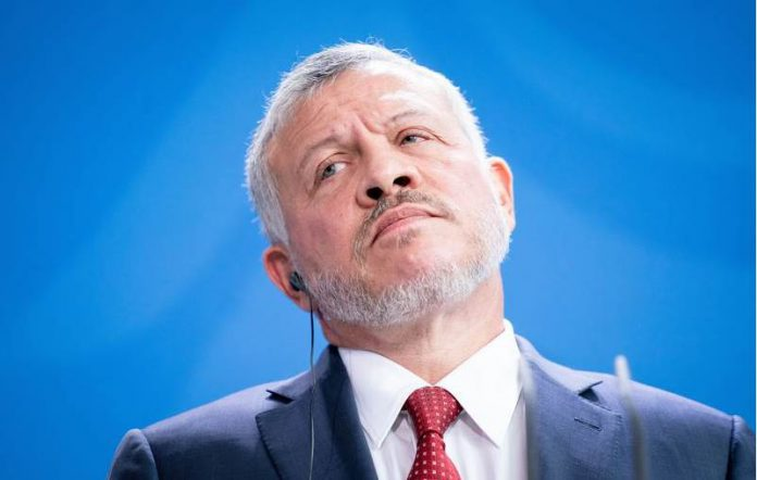 FILED - King Abdullah II of Jordan pictured during a press conference in Germany's Chancellery on September 17, 2019. Photo: Kay Nietfeld/dpa