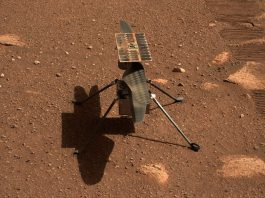 A picture provided by A picture provided by the National Aeronautics and Space Administration (NASA) on 06 April 2021, shows NASA's Ingenuity Mars Helicopter on the 45th Martian day of the mission. NASA is targeting no earlier than Sunday, 11 April 2021, for Ingenuity Mars Helicopter's first attempt at powered, controlled flight on another planet. Photo: Jpl-Caltech/Nasa via ZUMA Wire/dpa