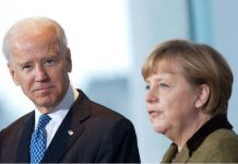 FILED - German Chancellor Angela Merkel and US President Joe Biden in Berlin on February 1, 2013. Photo: picture alliance / dpa