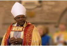 Most Rev. Dr. Cyril Kobina Ben-Smith, Archbishop Elect of the Internal Province of the Anglican Church, Ghana