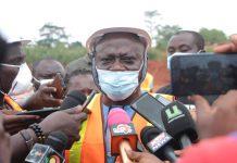Mr. George Boakye speaking to the media