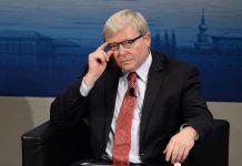 FILED - Kevin Rudd, ehemaliger Premierminister von Australien, aufgenommen am 13.02.2016 bei der 52. Sicherheitskonferenz im Hotel Bayerischer Hof in München (Bayern). Foto\ Andreas Gebert/dpa Photo: picture alliance / dpa