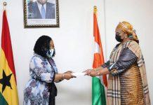 Madam Shirley Ayorkor Botchwey and Mrs Lamido Salamatou Bala Goga