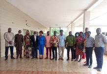 Mr Kwesi Jonah (4th from left) in a group photograph with participants