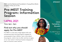 Pre-MEST Info Session flyer