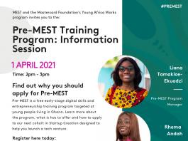 Pre-MEST Info Session flyer