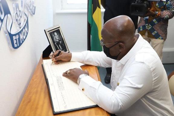 Prez Of Ghana, Nana Addo Dankwa Signs Prince Philip Book Of Condolences At The British High Commisssion