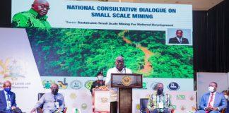President Akufo-Addo addressing the consultative meeting