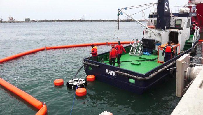 oil spill drill at Tema Port