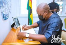 Mahama signs Book of Condolence