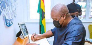 Mahama signs Book of Condolence