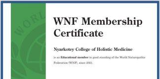 WNF Membership Certificate