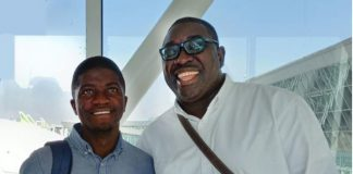 Andrew Takyi-Appiah - MD, Zeepay Ghana (right) and Aston Njovu, co-founder of Mangwee (left)