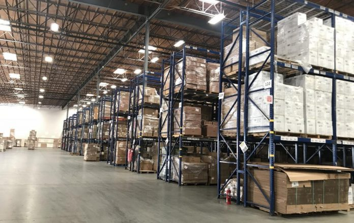 Photo shows the interior of an overseas warehouse of GOODCANG in France. GOODCANG is a service brand of Zongteng Group, a global infrastructure service provider for cross-border e-commerce based in Shenzhen, south China's Guangdong province. (Photo/Official website of GOODCANG)