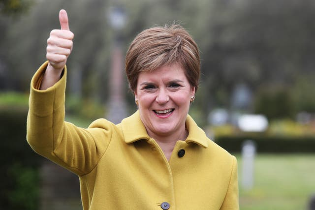 Scottish First Minister and SNP leader Nicola Sturgeon has spoken to Prime Minister Boris Johnson after her election win (PA Wire)