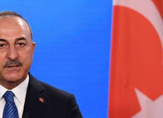 Turkish Foreign Minister Mevlut Cavusoglu gives a statement to the media after a meeting with his German counterpart in Berlin, Germany, May 6, 2021. REUTERS/Annegret Hilse/Pool/File Photo