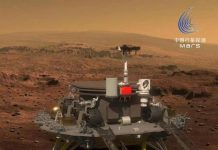 Photo shows the Chinese Mars rover Zhurong. (Photo from the official page of the rover on microblogging site Weibo)