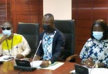 Mr Kwabena Mintah Akandoh, Ranking Member of Health, addressing at a press conference in Parliament House