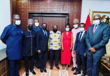 President Akufo-Addo hosts Ben Nunoo Mensah and new GOC Board