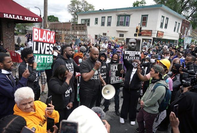 Minneapolis demonstration demanding justice for George Floyd