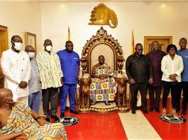Minister's Visit to Asantehene