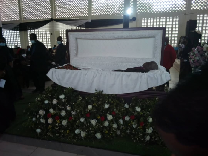 pre-burial service for late Moderator