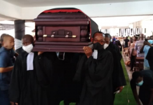 Very Reverend Dr Livingstone Komla Buama has been laid to rest